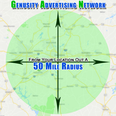50 Mile Radius Map